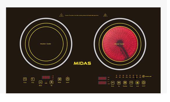 Placa Midas Inducción/Vitro MD-PD318C